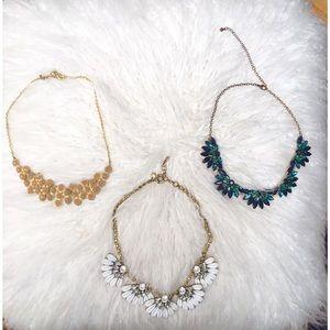 Set of Three Statement Necklaces
